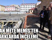 Başkan Mete Memiş'ten Otoparklarda İnceleme