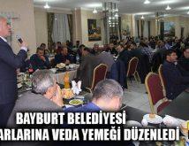 Bayburt Belediyesi Emektarlarına Veda Yemeği Düzenledi