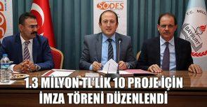 Bayburt'ta 10 proje için imza töreni düzenlendi