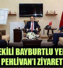 Milletvekili Bayburtlu Yeneroğlu, Vali Pehlivan'ı Ziyaret Etti